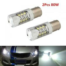 2x 2000LM 80W 1156 BA15S CREE 16-LED White LED Car Tail Fog Light Bulb Headlamp