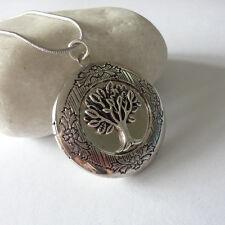 Tree Of Life Locket Silver Locket Pendant Necklace Tree Locket