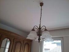 5-flammige Messing Deckenlampe / Murano Glas = Murano lampada = Ceiling lamp