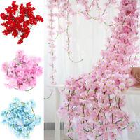 2M Sakura Rattan Wedding Arch Flowers Vine Ivy Home Decor Wall Hanging Garland