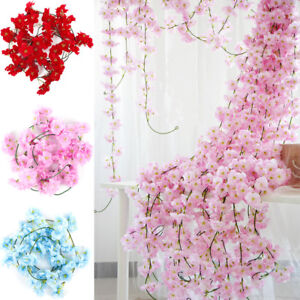 2M Sakura Rattan Wedding Arch Flowers Vine Ivy Home Decor Wall Hanging Garland