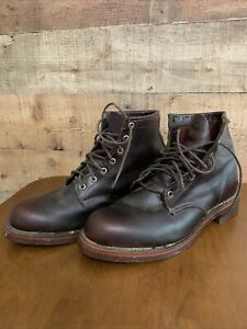 LL Bean Brown Leather Upland Hunting Boots 9.5 EE 6inch