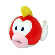 """Super Mario Bros Pukupuk Cheep Cheep Fish Plush Doll Figure Stuffed Toy 6"""" Gift"""