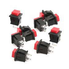 10Pcs Red Square SPST NonLocking Reset/Self-locking Push Button Switch 125VAC 1A