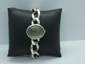 10171/ Vintage Damenarmbanduhr Quinn Silber 925 Handaufzug