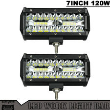 """2x7""""120W LED Work Light Bar Flood Combo Pods Driving OffRoad For Tractor 4WD 12V"""