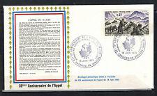 1975-Enveloppe-Fdc 1°Jour**Appel du 18 Juin-Obl.Vassieux.Timbre.Yt.1601