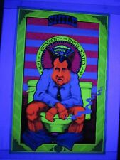Vintage Psychedelic Blacklight Poster SMILE THINGS COULD BE WORSE Richard Nixon