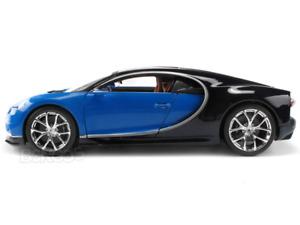 Bugatti Chiron 1:18 Scale - Bburago Diecast Model Car (Blue)