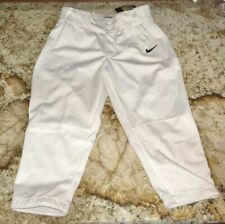 NIKE Stock All Out 3/4 Length White Softball Pants Fast Pitch NWT Womens Sz M XL