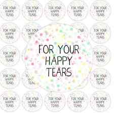 50 For Your Happy Tears Rainbow Round Stickers Confetti Wedding Favor Stickers