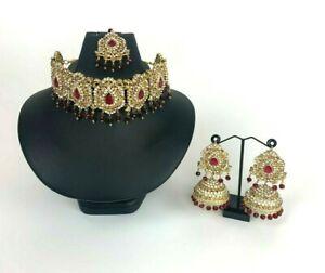 New Pakistani Indian Bollywood Wedding Asian Necklace Jewellery Set