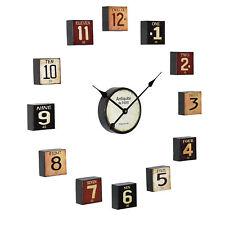 [en.casa]® Reloj de pared decorativo retro metal diseño creativo analógico