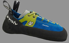 Evolv Axiom Leather Lace-up Climbing Shoes, Blue/ Green, 5 Us