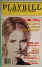 Proof star Jennifer Jason Leigh Cover Monthly Edition of Playbill Magazine 2001