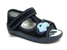 Baby Toddler Boys Canvas Shoes Kids Sandals - Navy (UK 4 / EU 20)