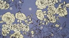 Viscose Lilac Floral Assorted Printed Dress Fabric FREE P+P Sold By The Metre