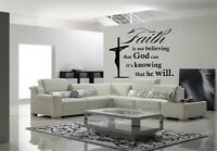 Faith Is Believing Vinyl Wall Decal Sticker Jesus Christ Christian Bible Verse