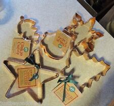 Wilton Copper Cookie Cutter Collection Star Acorn Tree Snowflake New with Tags