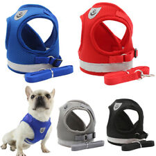Dog Harness Leash Set Small Pet Puppy Cat Soft Breathable Vest Reflcetive S-XL