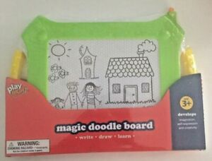 NEW Play Right Magic Doodle Board. Magnetic Drawing Board. Green