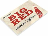 Big Red Soda Rustic Retro Tin Metal Sign