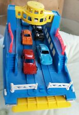*Very Rare* Vintage Plastic Toy Ferry Boat w New Tootsie cars- 100% Clean