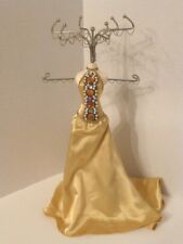 "Mannequin Gold Gown 14""H.Jewelry Organizer For Necklaces, Bracelets, Earrings"