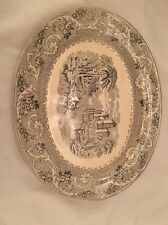 "VICTORIAN 13"" OVAL PLATE 'RHINE' by WORTHINGTON & HARROP 1856-1873 EX"