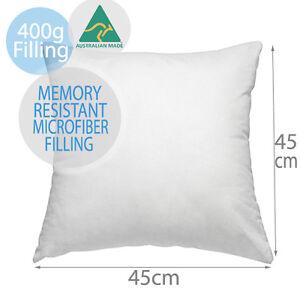 Aus Made New Premium Polyester Microfibre Cushion Inserts Pillow 45x45CM