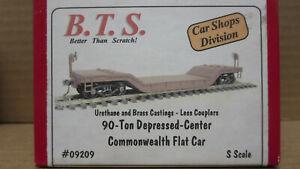 BTS 09209 90Ton Depressed Center Commonwealth Flat Car S-Scale MIB