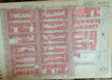 1955 MIDTOWN MANHATTAN EAST SIDE - HELL'S KITCHEN NYC  G.W. BROMLEY ATLAS MAP