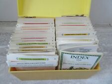 Old Vintage 1981 Betty Crocker Recipe Card Library with Box