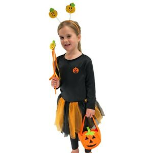 Girls Bat Pumpkin Fairy Devil Tutu Halloween Costume Toddler Fancy Dress 3-5 yrs