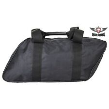 Large Black Heavy Duty Motorcycle Saddlebag Liner with Zipper Closure NEW