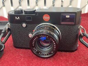 leica M 240 Camera Body Summarit 1:2.5 50mm Prime Lens Package Vtg Black