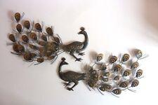 1 paire de Paons métal objets décoratifs Réf 207