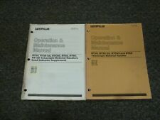 Caterpillar RTC60 RT60 Telehandler Forklift Owner Operator Maintenance Manual