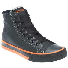 Harley Davidson Nathan Mens High Hi Top Trainer Leather Ankle Boot Size 7-12