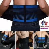 NEOPRENE DELUXE BELT DOUBLE PULL Lumbar Lower Back Support Brace For Women Men