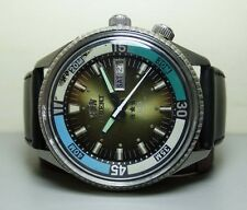 VINTAGE ORIENT AUTOMATIC DAY DATE MENS WRIST WATCH G758 OLD USED ANTIQUE SUPERB