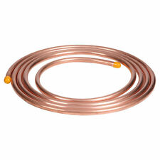 NEW 14M of 1/4inch copper pipe tube, microbore, gas LPG plumbing UK SELLER,