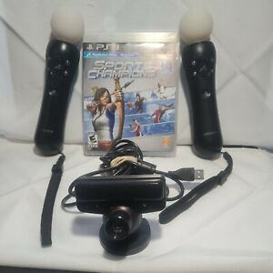 X2 Sony PlayStation PS3 Move Motion Controller Set Camera Game Bundle
