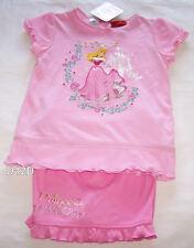 Disney Princess Girls Pink Printed 2 Piece Pyjama Set Size 6 New
