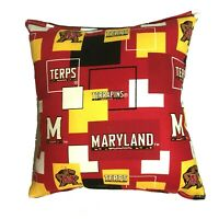 Maryland Terrapins Pillow Terrapins Pillow NCAA Football Pillow HANDMADE In USA