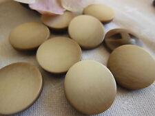lot 6 boutons vintage marron créme lisse à pied diamètre: 2,1 cm ref 318