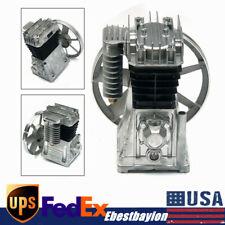 250lmin 3hp Piston Cylinder Air Compressor Pump Motor Head Air Tool With Silencer