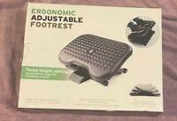Mind Reader FTREST-BLK Adjustable Foot Rest - Black