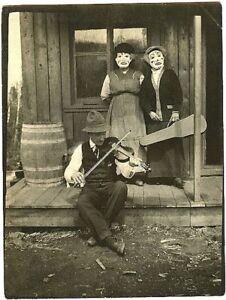 New Art Print of Creepy Back Woods Halloween Scene 8X10  c.1900