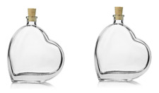 2x Heart Glass Bottles Larger Sizes Are Available Liquor Wine Alcohol Storage